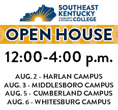 A graphic showing the campus schedules for when the Open House event will take place.