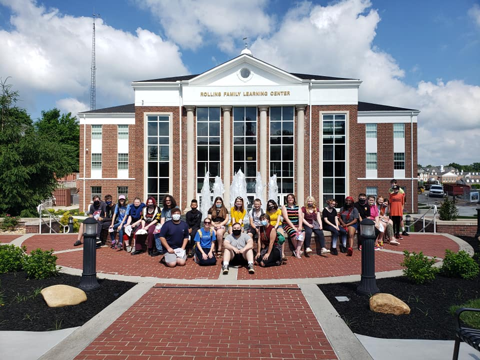 UBMS participants made several stops during their cultural enrichment trip to Bowling Green and Louisville, KY. This group photo was taken outside of the Rollins Family Learning Center.