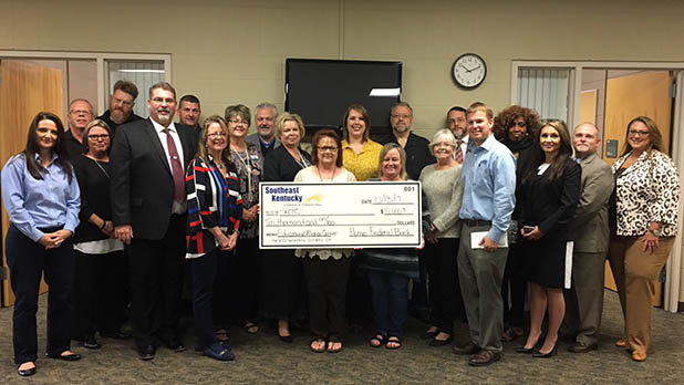 home federal bank donates 10,000 to skctc